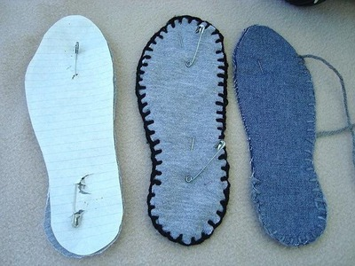 Make thick washable fabric soles for slippers, how to diy
