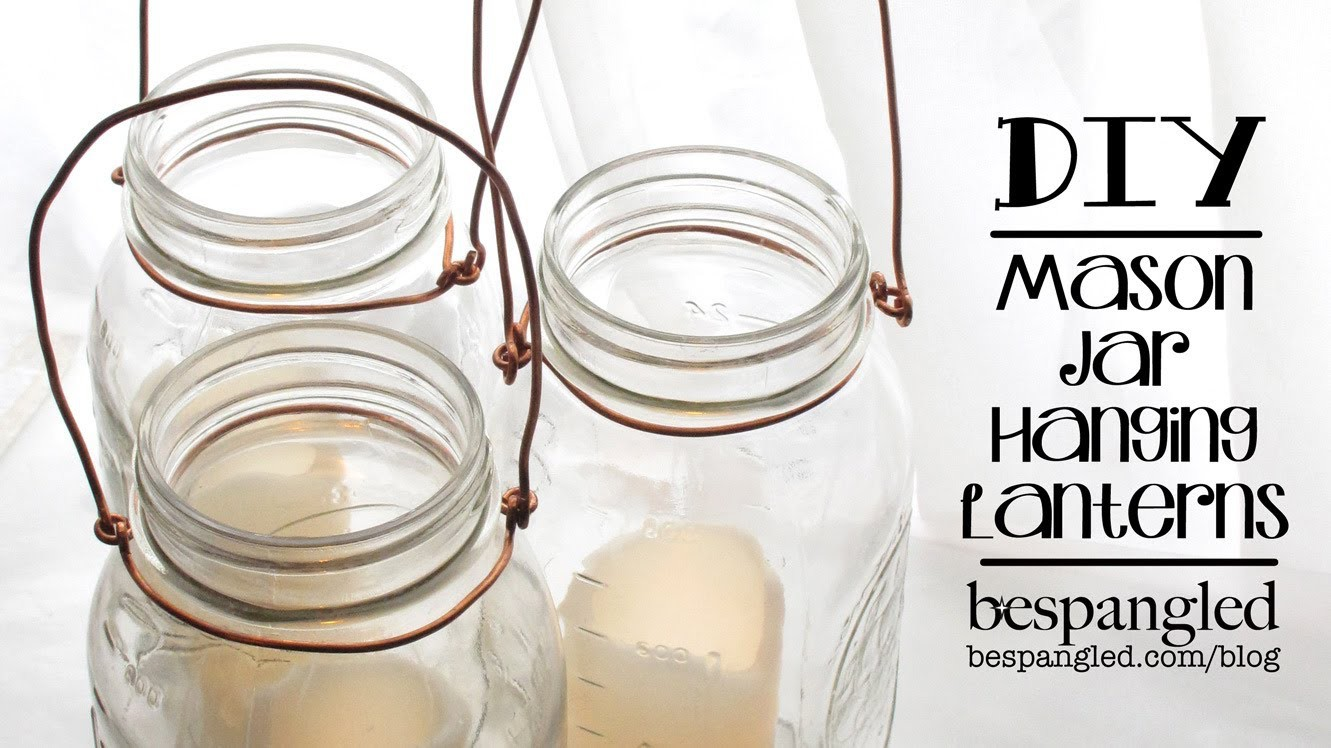 Mason Jar Lantern How To - DIY Wedding Craft. Make a Hanging Mason Jar Lantern