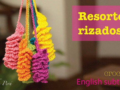 Mini tutorial # 5: resortes con borde rizado tejidos a crochet!  English subtitles: crochet twirls!