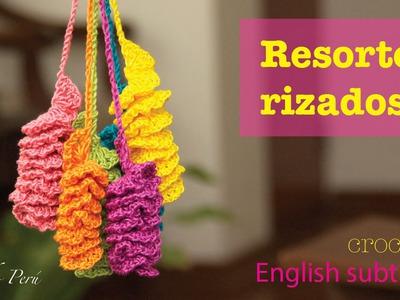 Mini tutorial # 5: resortes con borde rizado tejidos a crochet!  English subtitles: crochet twirls!