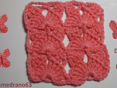 Muestra mariposa crochet