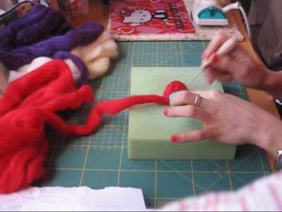 Nairamkitty crafts Tutorial Lana Afieltrable con aguja