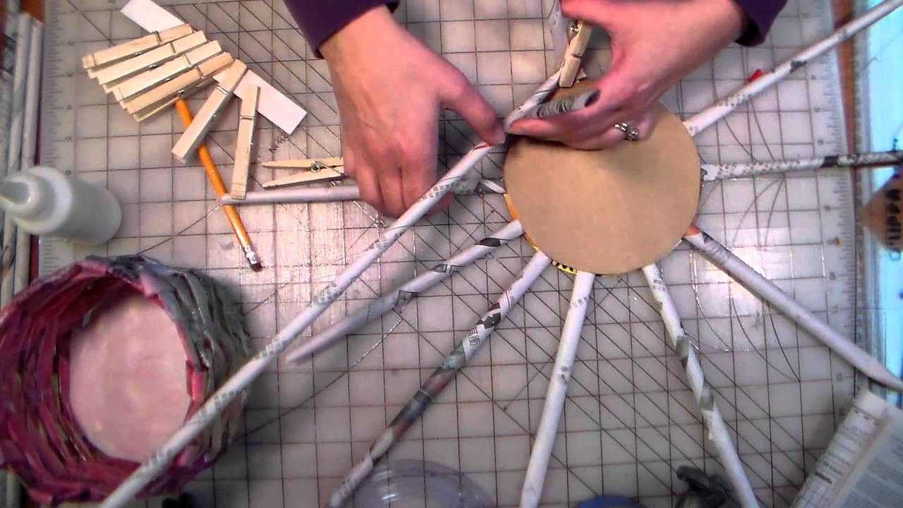 Newspaper basket tutorial