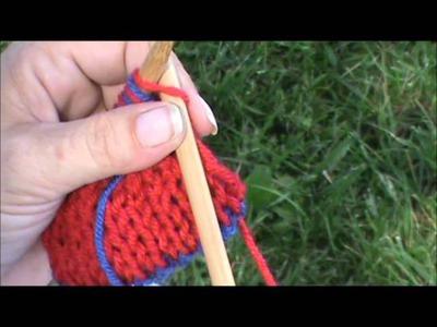 No Twist, Slip Stitch Edging for Double Knitting