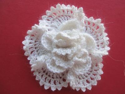 Объёмный цветок The volumetric Flower Crochet