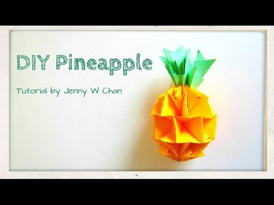Summer Crafts - DIY How to Make a Pineapple - Red Envelope Crafts - Origami, Paper Crafts