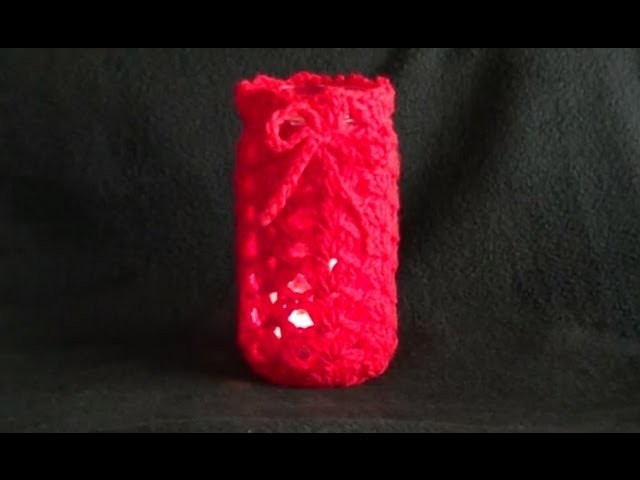 Tea Light Candle Holder Crochet Tutorial - Brought to you by amoderngirlswedding.blogspot.com.au