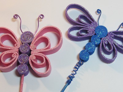 Tutorial: Butterflies made ​​of craft foam. Mariposas de goma eva.