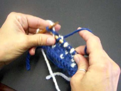 Two Color Stranded Knitting
