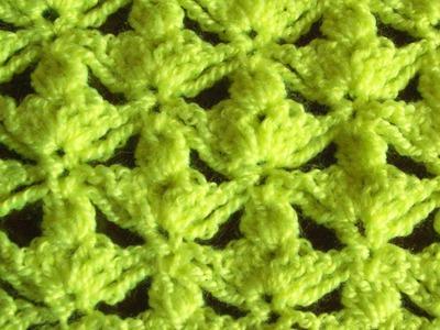 Узор трилистник крючком (shamrock pattern crochet)