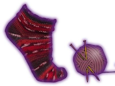 Wooly simple sock knitting tutorial 2 needles