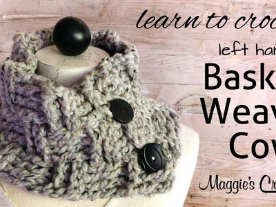 Basket Weave Cowl Free Crochet Pattern - Left Handed