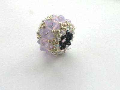 Beading4perfectionists: Beaded bead with Swarovski and miyuki beading turorial