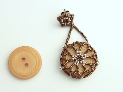 BeadsFriends: So many words and, at last, a new earring made using charlotte beads and a button