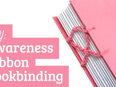 Bookbinding Tutorial: Coptic Stitch Awareness Ribbon