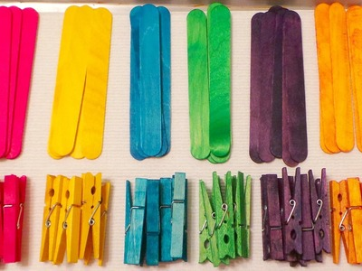 Colored Clothespins and Craft Sticks