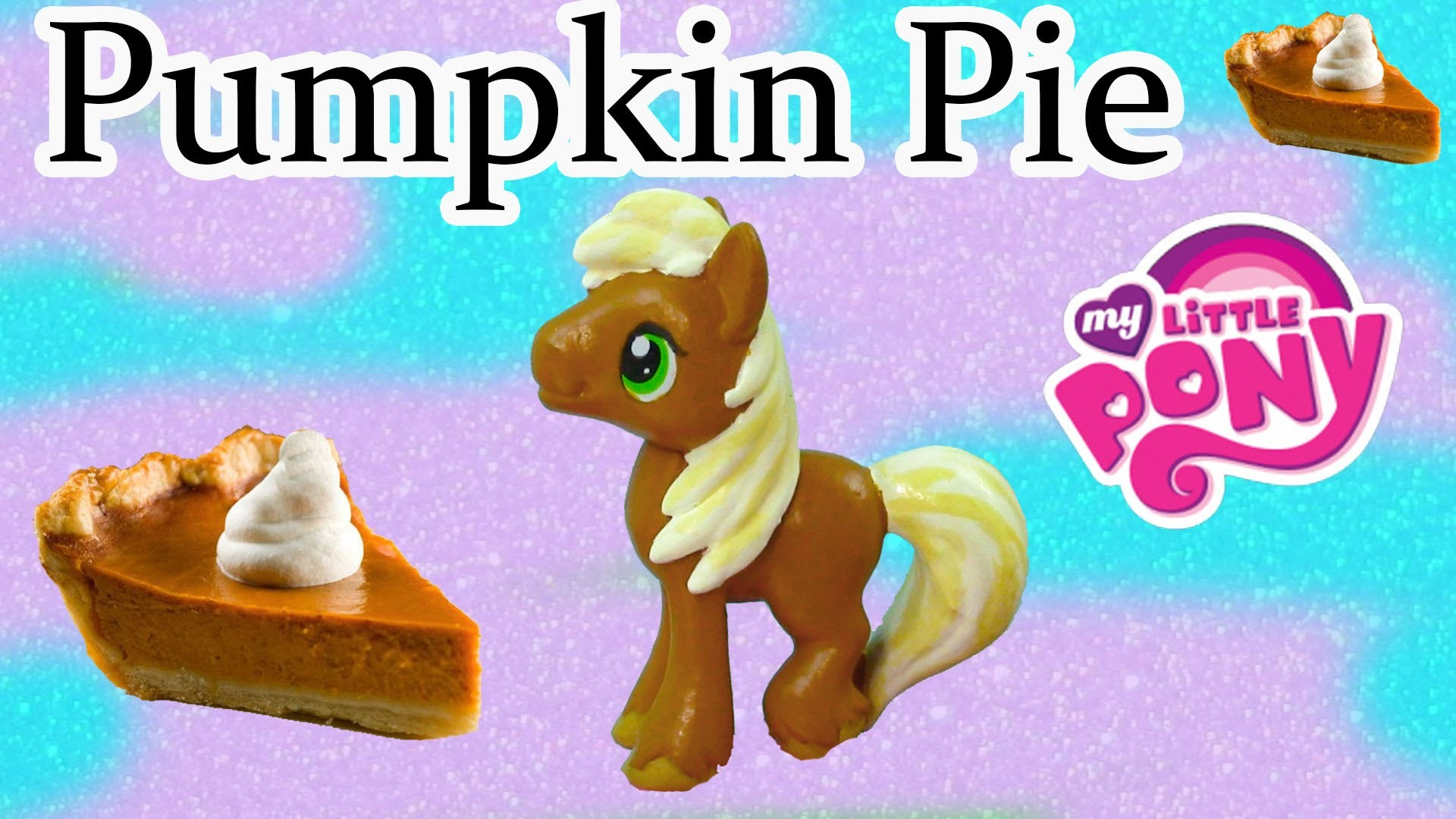 Custom MLP My Little Pony Thanksgiving Pumpkin Pie DIY Painted Holiday Craft Big Macintosh Stallion