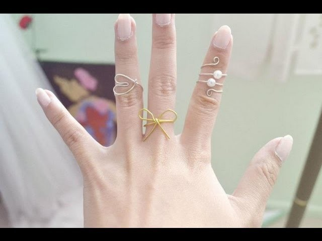 DIY 3 Wire Rings (Spiral, Bow, and Heart)