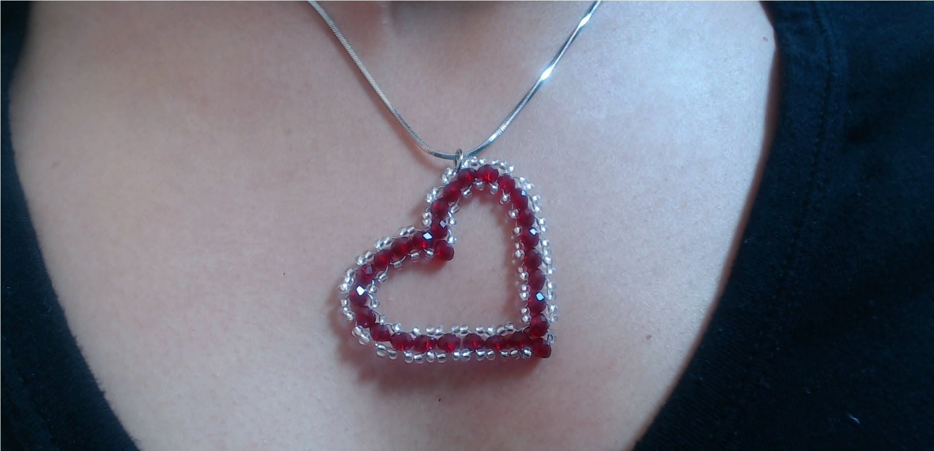 DIY Crystal Heart Pendant (quick and easy). Valentine's day project