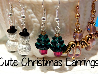 DIY Easy, Cute Christmas Earrings ¦ The Corner of Craft