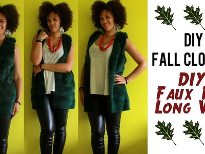 DIY Fall Clothes | How To Make a Faux Fur Vest