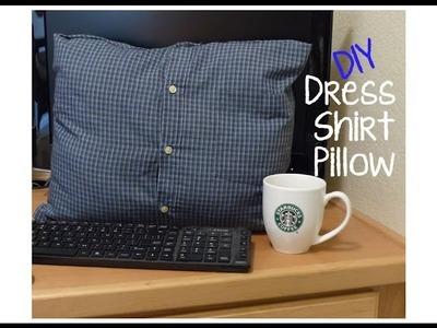 DIY No Sew Dress Shirt Pillow