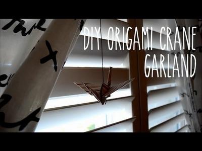 DIY: Paper Crane Garland