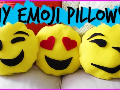 Easy DIY No Sew Emoji Pillows || #DIYwithPXB