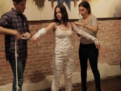 Fabsugar X Holy Tee - DIY Mummy Halloween Costume