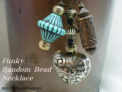 Funky Bead Dangle Necklace Video Tutorial