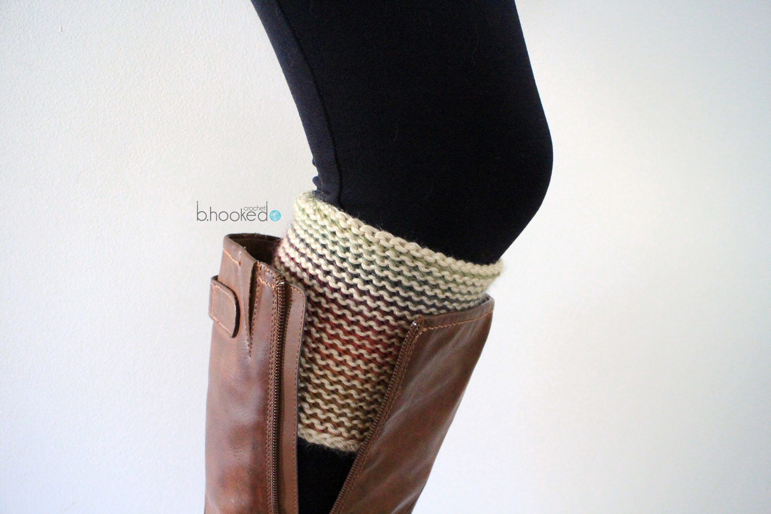 How to Crochet Boot Cuffs Left Handed