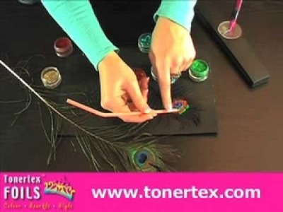 How to Draw Peacock Feathers for Cardmaking - Tonertex Foils