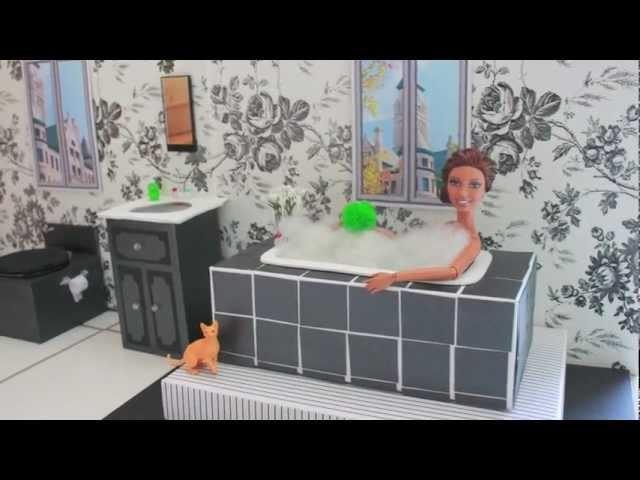 How to Make a Doll Bath Tub - Doll Crafts