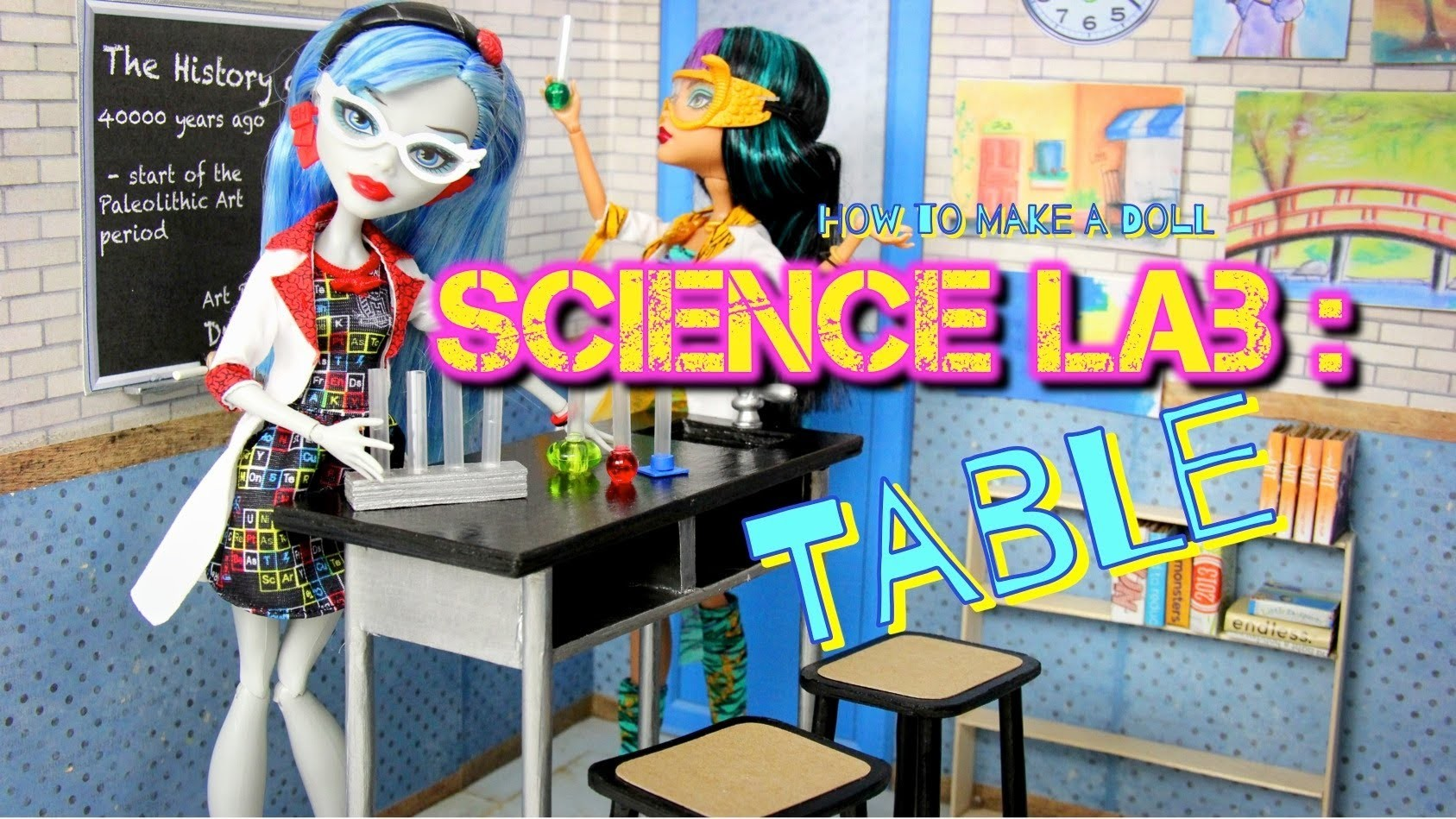 How to Make a Doll Science Lab: Table with Accessories - Doll Crafts