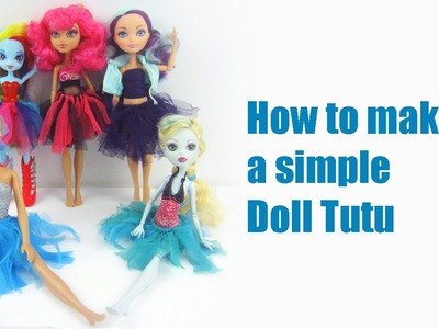 How to make a doll tutu or ballerina skirt - Doll Crafts