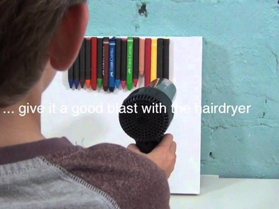 How to make a melted crayon artwork