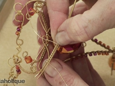 How to Wire Wrap a Basket Weave Figure-8 Design