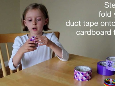 Kids in the Craft Room - Duct Tape Bracelets