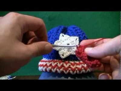 Left Hand: Mini Crochet Stars