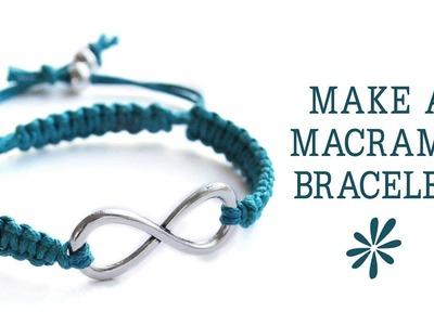 Make a knotted macrame friendship bracelet - jewelry making tutorial
