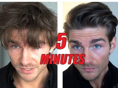 Men's Hairstyle Tutorial Male Model - How to