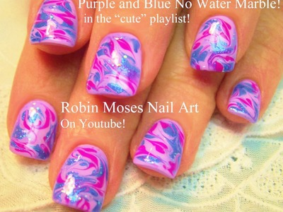No Water Needed | Cute Marble nail art Tutorial