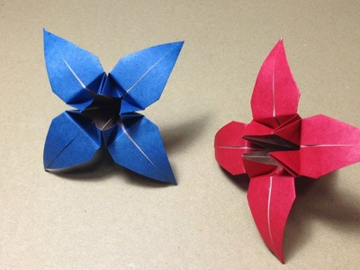 Origami Flower Instructions. Iris