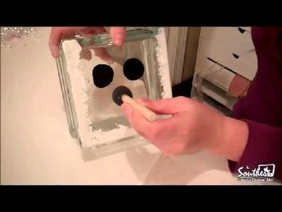 Outdoor Movie Element - Glass Snowman Block Craft
