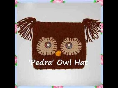 Pedr Owl Bird Chunky Yarn Beanie Ski Hat Children Ladies