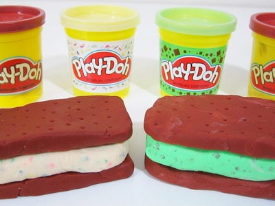 Play-Doh Cake Flavor & Mint Chocolate Chip Ice Cream Sandwiches | Fun & Easy How To DIY Play Doh!
