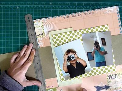 Smile scrapbook layout process