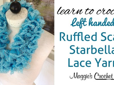 Starbella Lace Ruffled Scarf Left Handed with Maggie Weldon