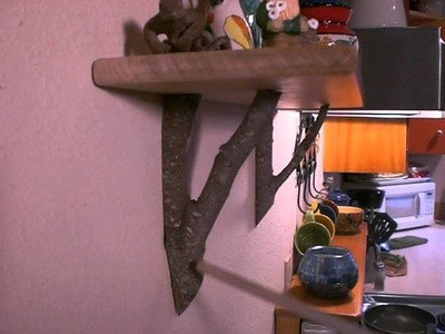 Craft Stick Crafts and Tree Branch shelf supports