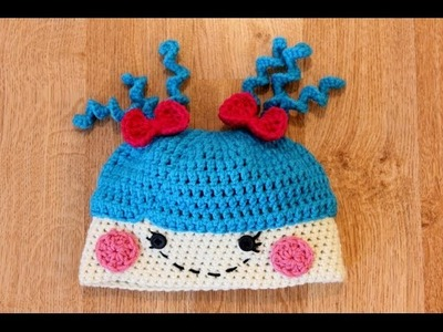 Crochet Lala Loopsy Inspired Hat Tutorial Pattern - Left Hand Version
